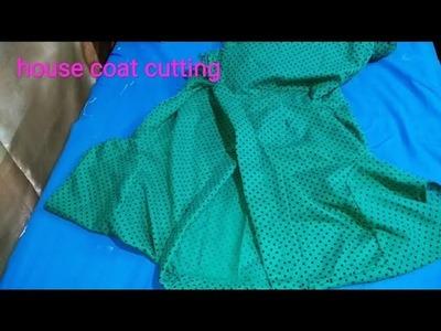 House coat cutting in hindi(part-1).हाउस कोट कटिंग करें आसान तरीके से