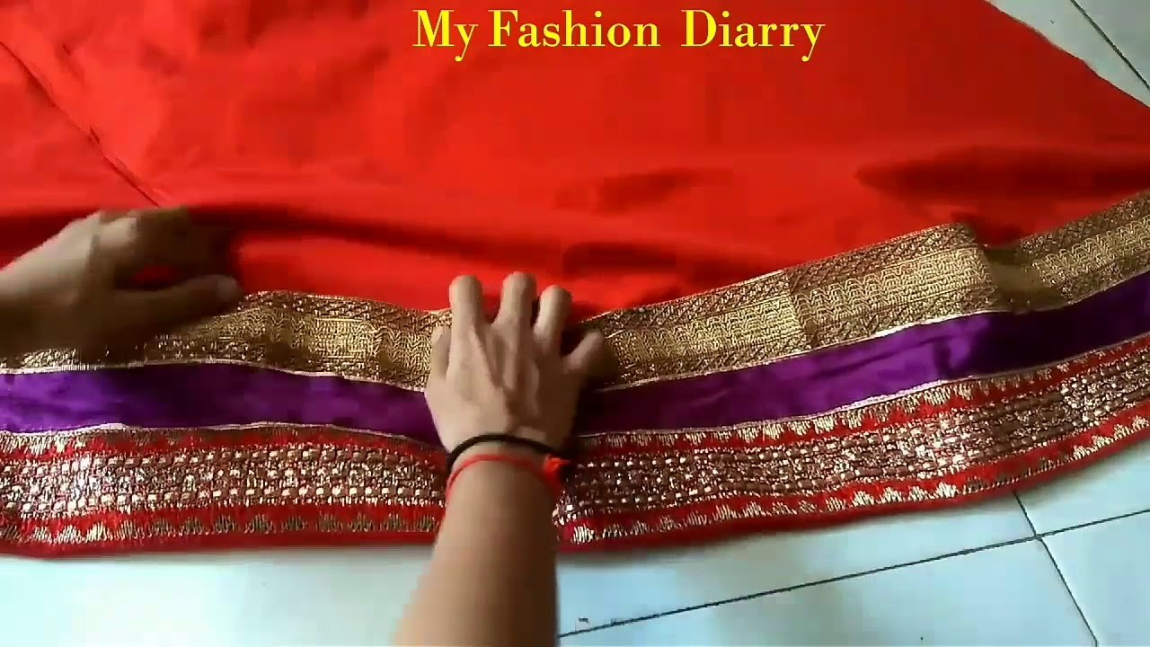 How to attach lace on umbrella  lahnga perfectly