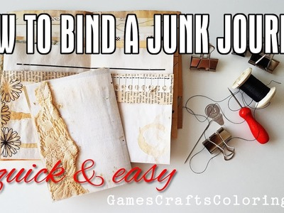 How to BIND a JUNK JOURNAL - Quick and easy binding tutorial