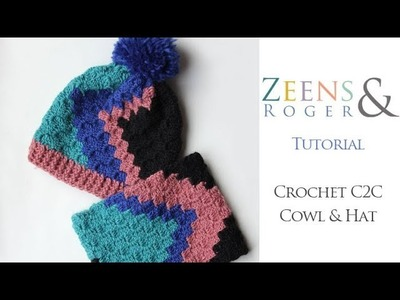 How to Crochet a C2C Hat & Cowl