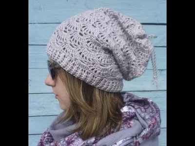 How to crochet autumn shell hat free pattern