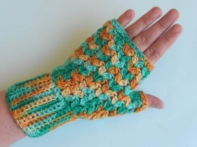 How to Crochet Easy Finger less Gloves