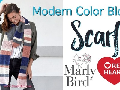How to Crochet Modern Color Block Scarf [Right Handed]