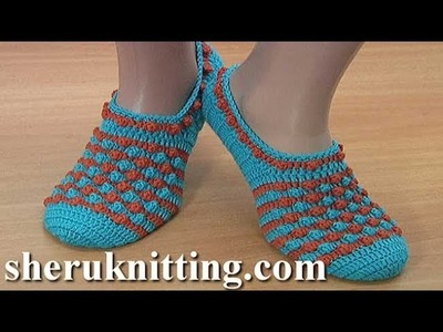 How To Crochet Slippers Step by Step  Tutorial 293