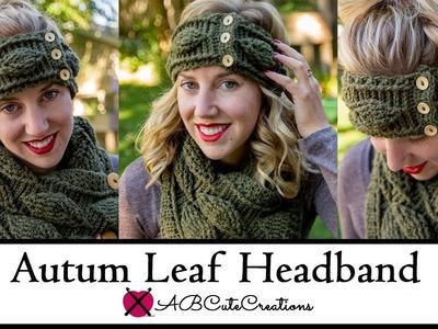 How to Crochet the Autumn Leaf Headband