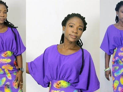 How To Cut A Chiffon Batwing Dress (Cut Together With Sleeve)