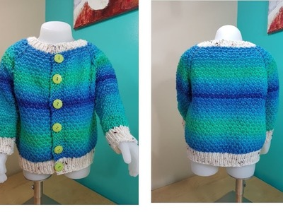 How to knit sweater or cardigan for toddlers part 1 of 2