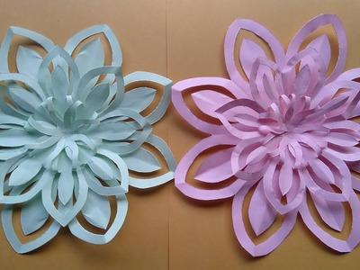 How to make a paper art - paper art, flowers design, paper cut flowers design