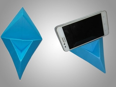How To Make An Origami Phone Stand.Holder - Easy Origami Phone Stand.Holder