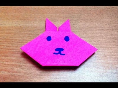 How to make an origami rabbit face step by step.