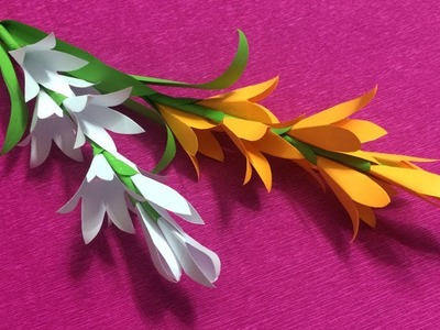 How to Make Beautiful Flower with Paper - Making Paper Flowers Step by Step - DIY Paper Flowers #1