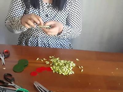 How to make brooch with jasmine   Membuat bros melati