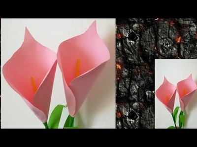 HOW TO MAKE 3D ORIGAMI CALLA LILY | DIY PAPER CALLA LILY FLOWER - YouTube | 300x400