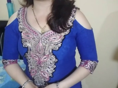 How to make cold sleeve shoulder in stitched Kurti by very easy method