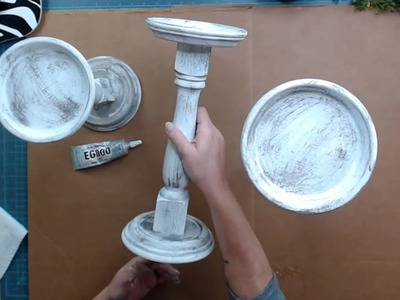How To Make Distressed Candlesticks From Old Spindles Found At A Thrift Store