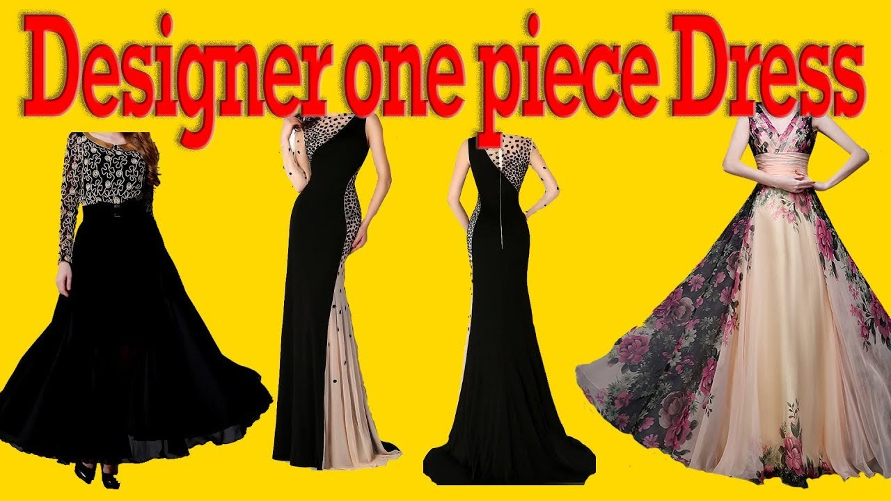 HOW TO MAKE ONE PIECE DESIGNER DRESS  PARTY WEAR DRESS CUTTING AND STITCHING