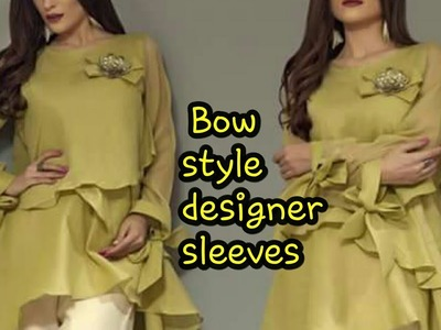 How to make unique bow style designer sleeves|cutting and stitching Full tutorial in hindi| SLEEVES