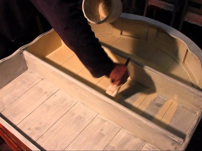 How to shabby chic furniture part 3 top coat tutorial guide welsh dresser