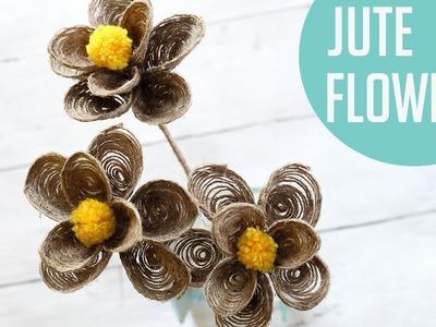 JUTE ROPE FLOWERS | EASY JUTE FLOWERS MAKING | HOW TO MAKE JUTE FLOWERS |
