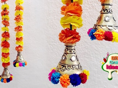 Marigolds walldecor door hanging | Make Flowers Pomander | diy craft Ideas