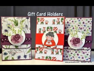 No.421 - Gift Card Holders - UK Stampin' Up! Independent Demonstrator