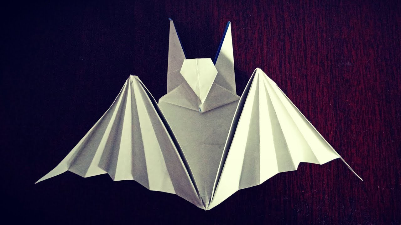 Origami Bat How To Make An Origami Bat Step By Step