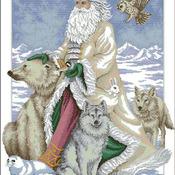 CRAFTS Polar Bear Santa Cross Stitch Pattern***LOOK***