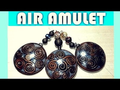 Polymer Clay AIR AMULET! Easy Tutorial!