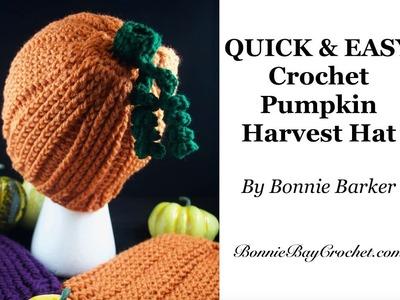 QUICK & EASY CROCHET Pumpkin Harvest Hat