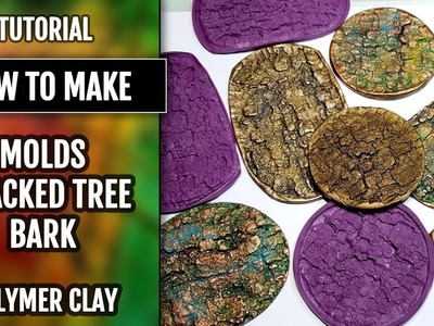 """Quick Video: How to USE my handmade silicone """"Cracked Tree Bark"""" Textures! Polymer clay!"""