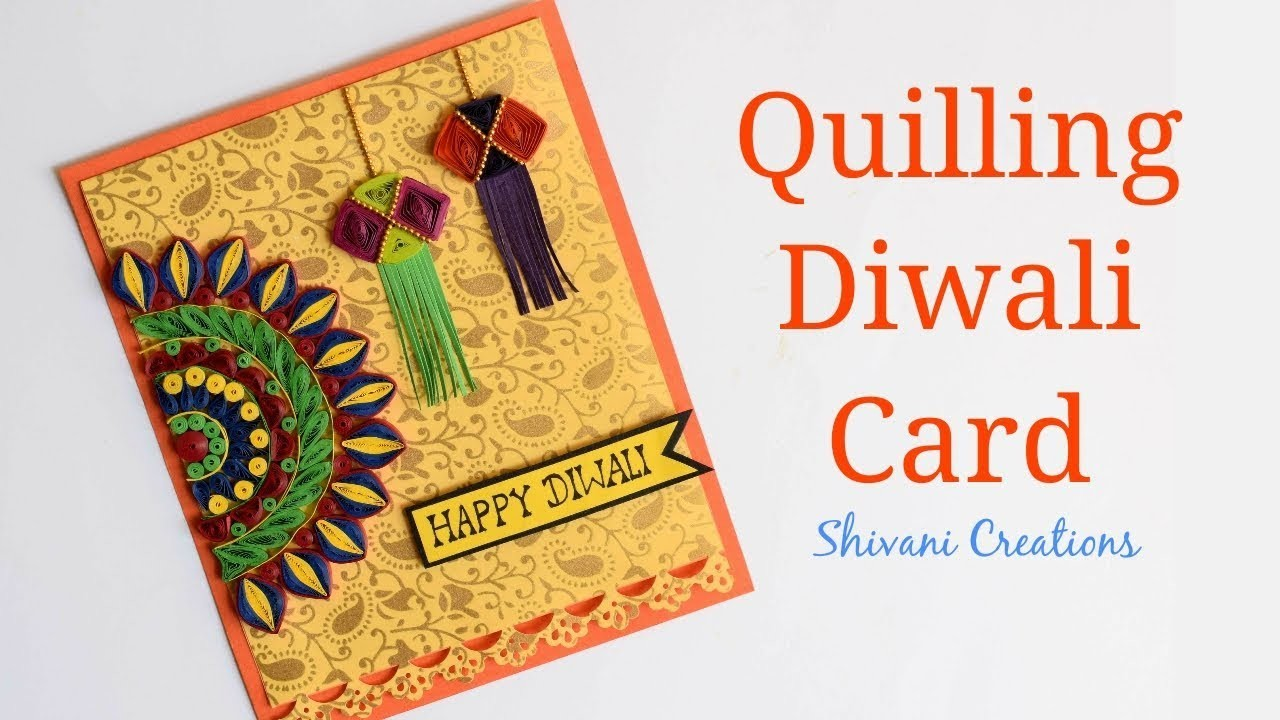Quilling Diwali Card. How to make Handmade Card for Diwali