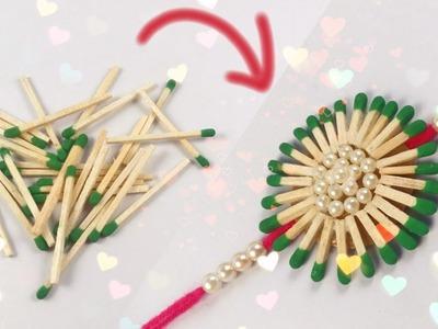 Rakhi From Waste Material at Home | Matchsticks Rakhi | Rakhi For School Competition For Kids