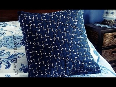 Sashiko Embroidery. Quilt Design Tutorial-9 (ver 2) - For Very Beginners
