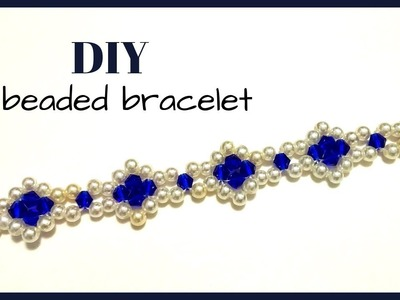 Simple beaded bracelet. Bracelet making tutorial