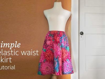 Simple Elastic Waist Skirt Tutorial