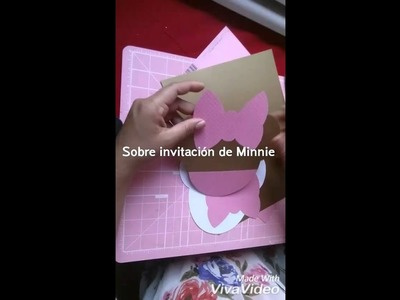 Sobre Invitación MINNIE Mouse