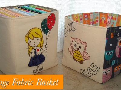 Storage fabric basket TUTORIAL