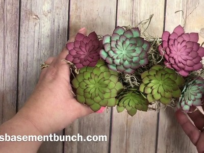 Succulent flowers using the Succulent framelits from Stampin' Up!
