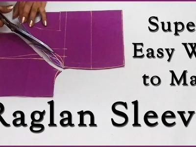 Super Easy Way to Make Raglan Sleeves | Raglan Sleeves Tuorial