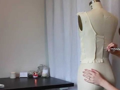 The Making of: Georgia - Part 2: Draping a Calico Toille.