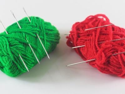 উলের সুতা দিয়ে নাইস হার্ট শেইপ ডেকোর | DIY-Art-and Craft-Out-Of-Woolen-Threads