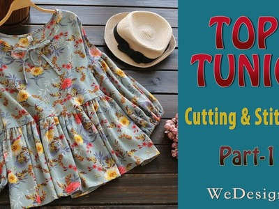 Top, Tunic cutting and stitching part-1