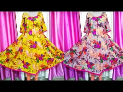 Umbrella Kameez.Suit.Gown Cutting and Stitching (Step By Step) In Easy Way
