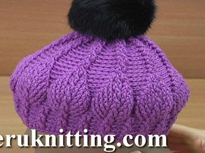 3D Leaf Crochet Hat Pattern 271