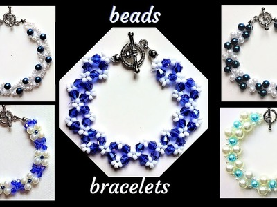 5 beaded bracelets pattern. Beginner beading tutorials