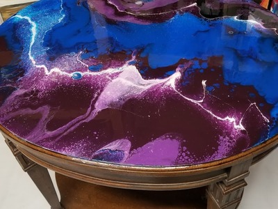 Acrylic Pour on a Table | Part 2 - Resin Coat