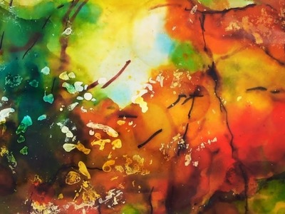 Autumn Forest Alcohol Ink Tutorial, how to paint step by step