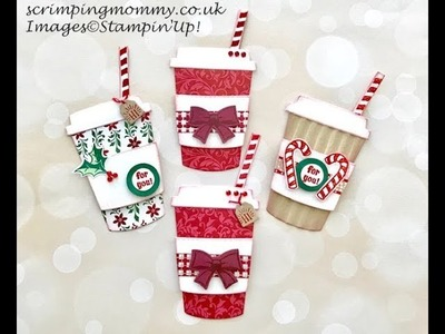 Christmas coffee cup embellies, Craft fair idea #100things