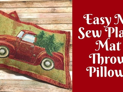 Christmas Crafts: Easy No Sew Throw Pillows From Place Mats