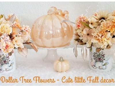 COFFEE CUP DECORATIVE FALL DECOR | DOLLAR TREE FLOWERS | QUICK-EASY DIY | FALL IDEAS 2018